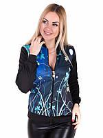 Бомбер Irvik 1724 46 Черный с голубым, КОД: 1628804