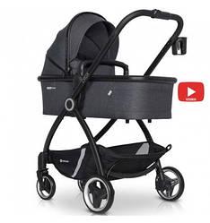 Детская коляска 2 В 1 EURO-CART CROX COAL