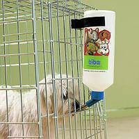 Бутылка с креплением Savic Glass Bottle в клетку для собак, грызунов, хорьков, 1 л