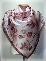 Атласный платок Ароматы лета, розовый