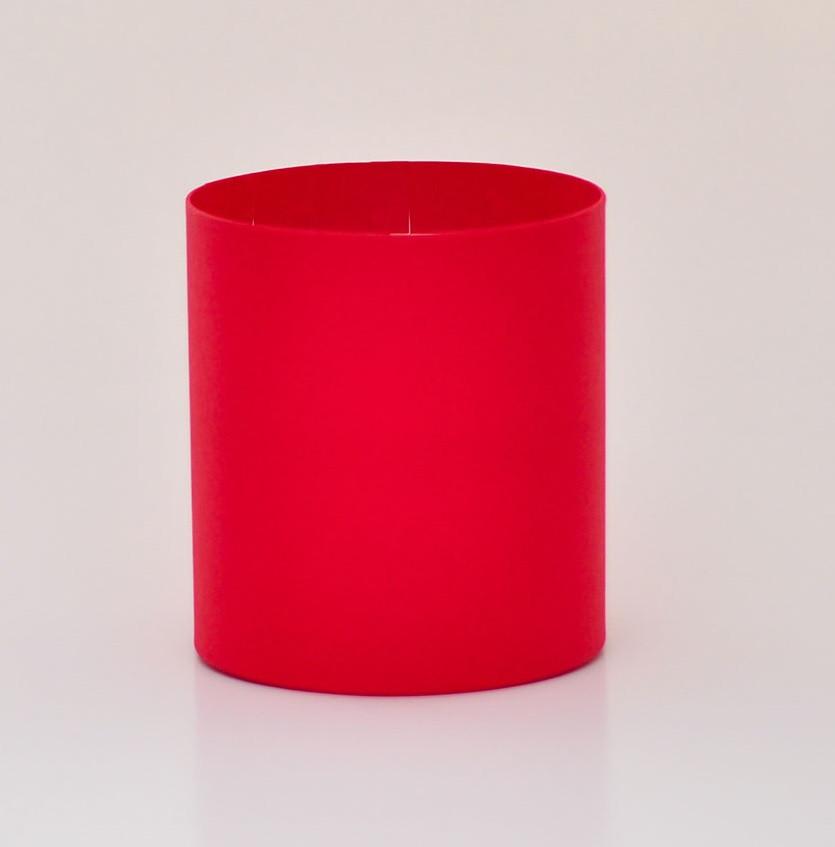 Круглая коробка без крышки, Красный, Размер 150*170мм