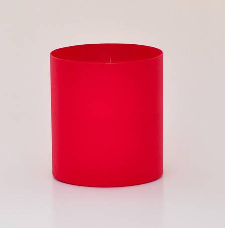 Круглая коробка без крышки, Красный, Размер 150*170мм, фото 2