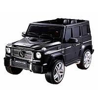 Детский электромобиль Машина Джип Mercedes черный для мальчика девочки 2 3 4 5 6 лет M 3567EBLR-2 2 мотора