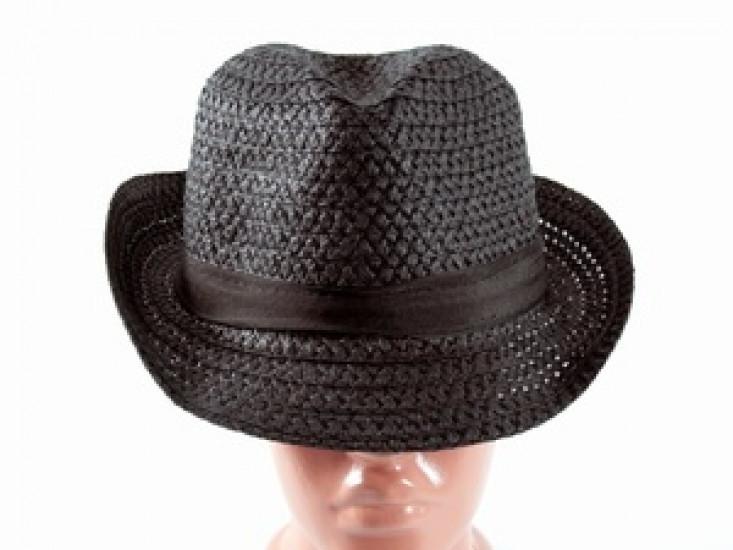Соломенная шляпа Бевьер 28 см черная 277520-07-СТ