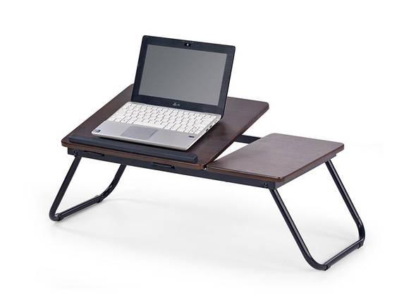 Стіл для ноутбука B19 коричневий 60/34/23 см, фото 2