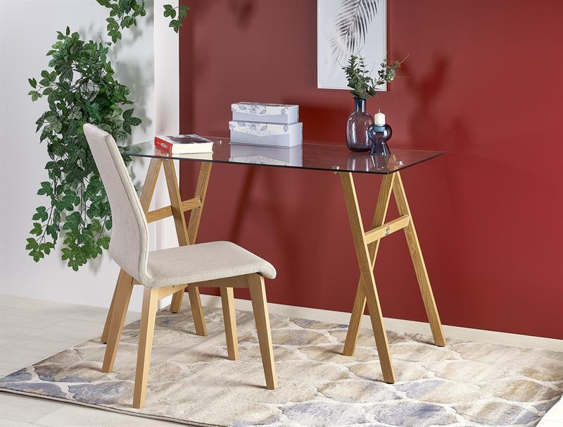 Стол письменный B35 прозрачный /дуб 120/60/76 см