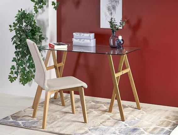 Стол письменный B35 прозрачный /дуб 120/60/76 см, фото 2