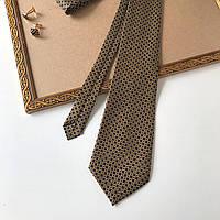 """Стильный галстук """"New time"""" темно-синий с декором, в подарочной коробке. RENECHEGAL."""