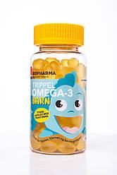 Омега 3 для детей, Biopharma Triple Omega-3,жевательные капсулы, 120 капсул, Норвегия
