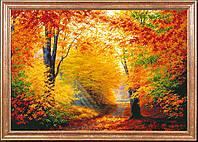 """Рисунок на ткани для вышивания бисером """"Разноцветная осень"""""""