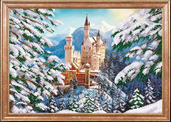 """Рисунок на ткани для вышивания бисером """"Зимний замок """", фото 2"""