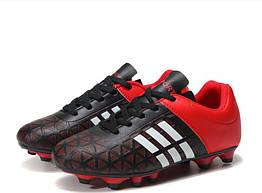 Детские бутсы Sport 32 Черно-белый с красным 598724868809, КОД: 1679719