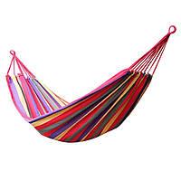 Гамак мексиканский Dense forest с чехлом и веревками 190х100 см Разноцветный new16502, КОД: 1584256