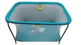 Манеж игровой KinderBox с мелкой сеткой Бирюзовый km556, КОД: 369343