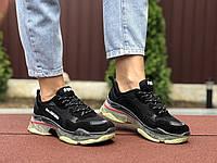 Кроссовки Balenciaga Triple S Sneaker черные с бежевым