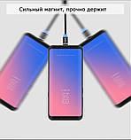 2 Метра Магнитный кабель зарядки и синхронизации TOPK AM60 18W LED 3A Iphone Черный, фото 8