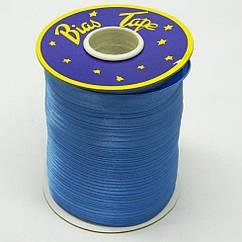 Косая бейка Super 3081 атласная 1.5 см х 100 м Синяя Bios-3081, КОД: 1314927