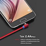 Магнитный кабель TOPK 1 метр ПОВОРОТ 90° USB 2.0 для зарядки AM51 Type C (ЗОЛОТОЙ), фото 4