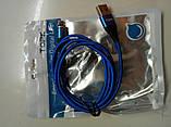 2 Метра Магнитный кабель зарядки и синхронизации TOPK AM60 18W LED 3A IPhone Синий, фото 4