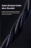 2 Метра Магнитный кабель зарядки и синхронизации TOPK AM60 18W LED 3A IPhone Синий, фото 6