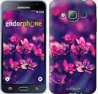 Силиконовый чехол Endorphone на Samsung Galaxy J3 Duos 2016 J320H Пурпурные цветы 2719u-265-26985, КОД: 1724223
