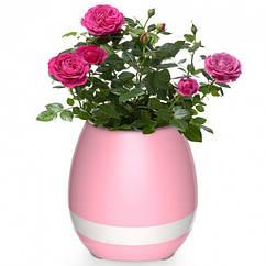 Горшок-колонка Smart Music Flowerpot с музыкой Розово-белый 915, КОД: 1629057