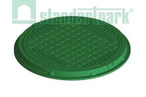 Люк канализационный полимерпесчаный зелёный