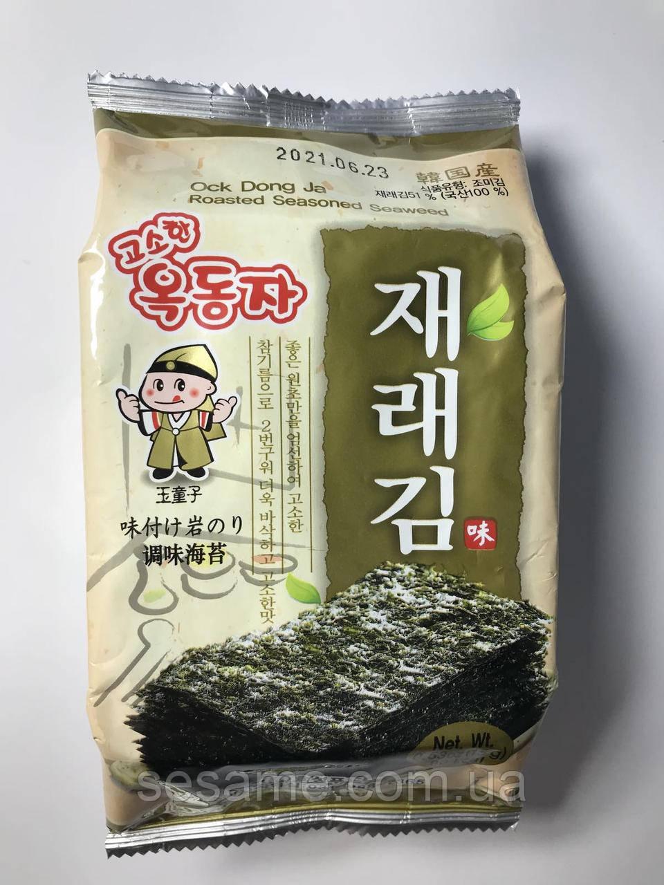 Чипсы нори снек с кунжутным маслом OCK DONG JA 15 г (Корея)