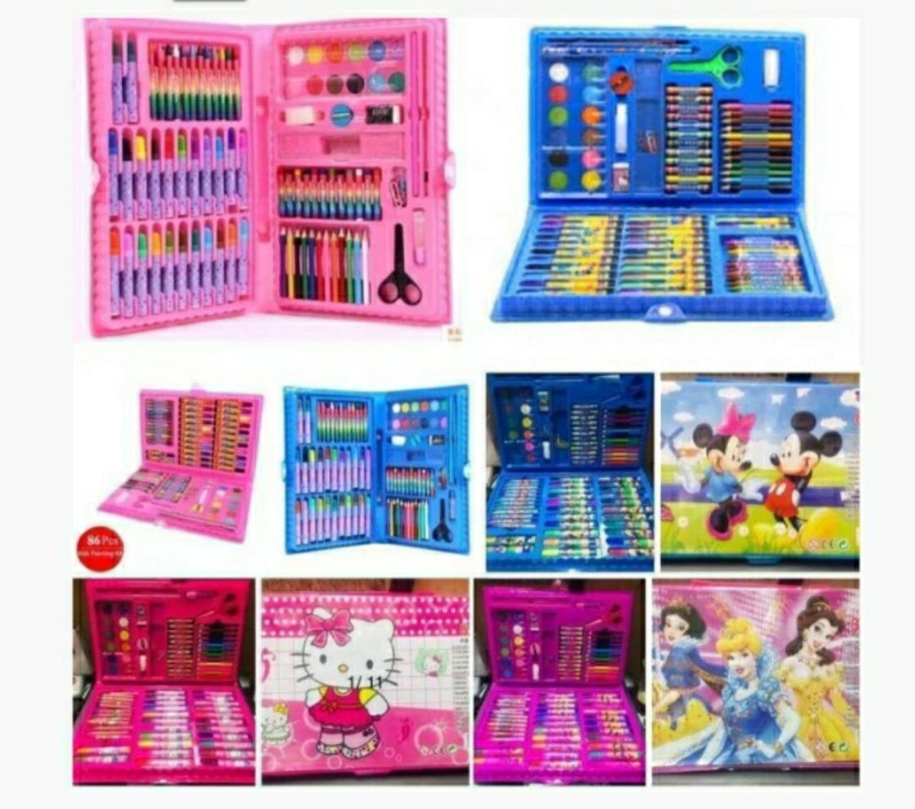 Детские художественные наборы для рисования в чемоданчике на 86 предметов