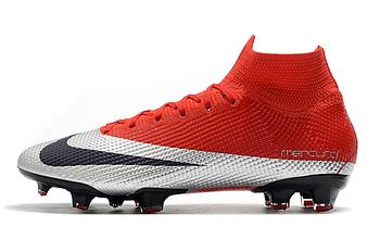 Бутсы Nike Mercurial Superfly VII Elite FG red/grey