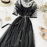 Гіпюрову плаття чорне, фото 3