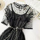 Гіпюрову плаття чорне, фото 2