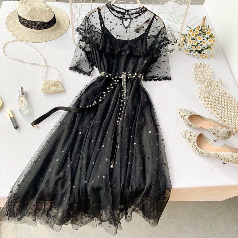 Гіпюрову плаття чорне