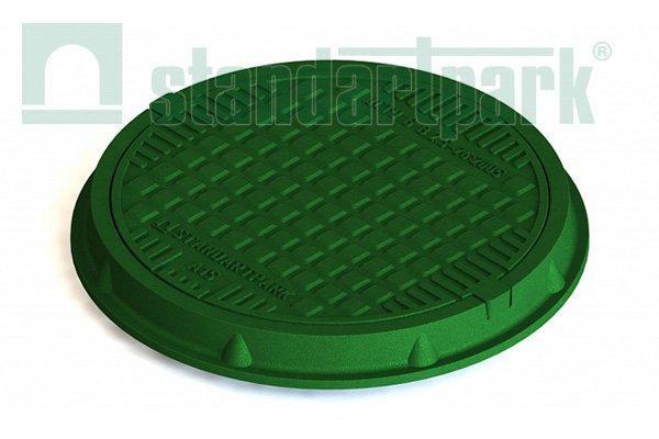 Люк легкий полимерпесчаный зелёный