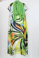 Длинное летнее платье с шелковым шарфом Cadrelli (Турция) 52-62р