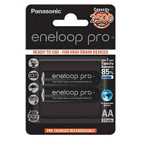 Аккумулятор PANASONIC Eneloop Pro AA 2500mAh NI-MH * 2 (BK-3HCDE/2BE)