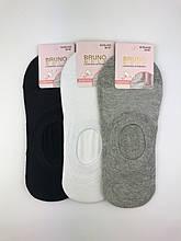 Шкарпетки слідки Сітка підліткові для хлопців з силіконом BRUNO #WLRS-4203, р.35-40