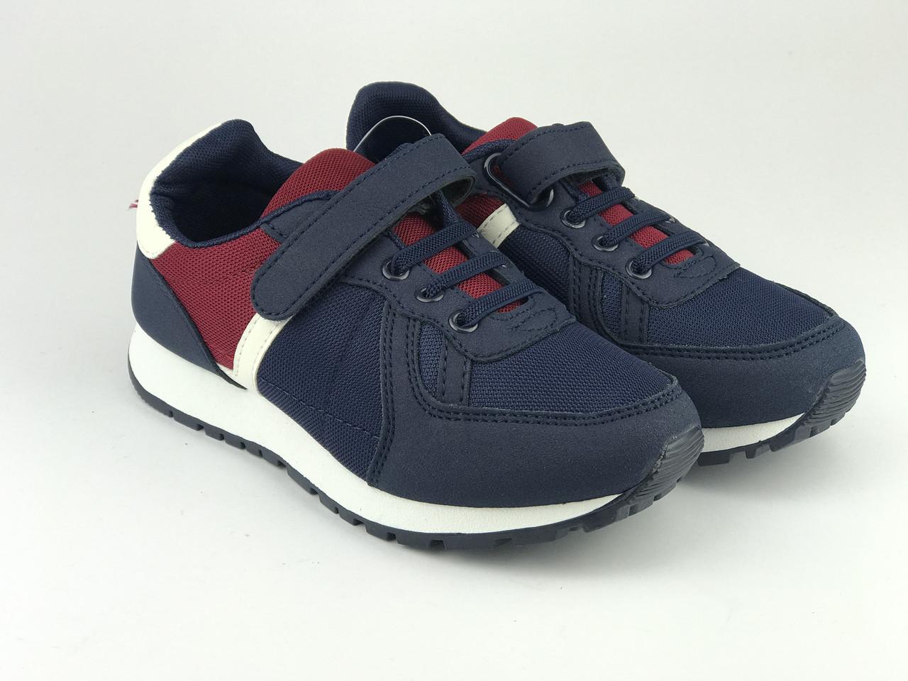 Кросівки дитячі для хлопчиків синьо-червоні LaVento