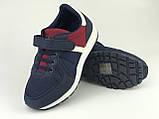 Кросівки дитячі для хлопчиків синьо-червоні LaVento, фото 2