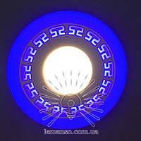 """LED панель Lemanso """"Грек"""" 3+3W с синий, жолтый, зеленый, красный, сереневый подсв. 350Lm 4500K / LM533"""