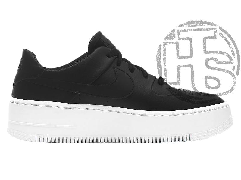 Жіночі кросівки Nike Air Force 1 Sage Low Black White AR5339-002