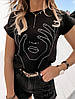 Турецкая стильная женская футболка 42-46 (в расцветках), фото 2