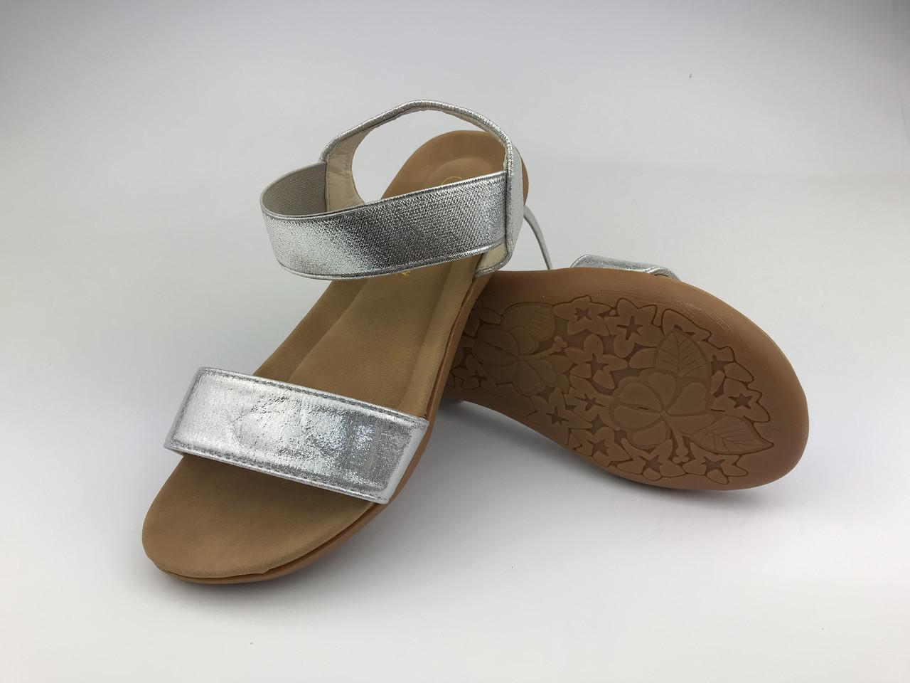 Босоніжки підліткові дівчачі серебристі Silver Meridiana р.31-35