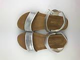 Босоніжки підліткові дівчачі серебристі Silver Meridiana р.31-35, фото 2