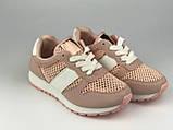 Кросівки дитячі сітка стильні рожеві Lavento, фото 2