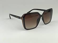 Іміджеві окуляри сонцезахисні жіночі BVLGARI коричневі