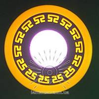 """LED панель Lemanso """"Грек"""" 6+3W с синий, жолтый, зеленый, сереневый подсв. 540Lm 4500K / LM555, фото 1"""