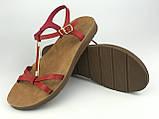 Босоніжки жіночі стильні червоні Meridiana, фото 4
