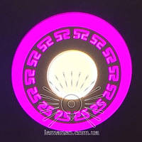 "LED панель Lemanso ""Грек"" 12+6W с розовой под. 1080Lm 4500K / LM543"