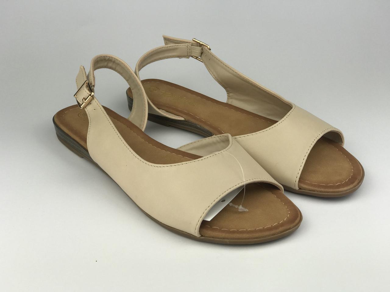 Босоножки женские бежевые Meridiana без каблука